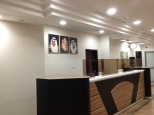 Interior View Reception counters in Entrance Halls for Male & Female