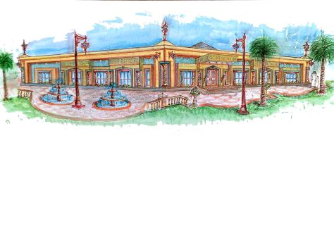Prince Md & Talal Recreation Building in Palace at Sakaka, Al Jouf, KSA