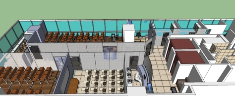 COMPLETE EXPLANATORY VIEW OF INTERIOR - FURNITURE LAYOUT OF THE INSTITUTE