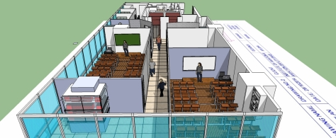 3D EXPLANATORY - INTERIOR VIEW OF LECTURE HALLS / CLASSROOMS